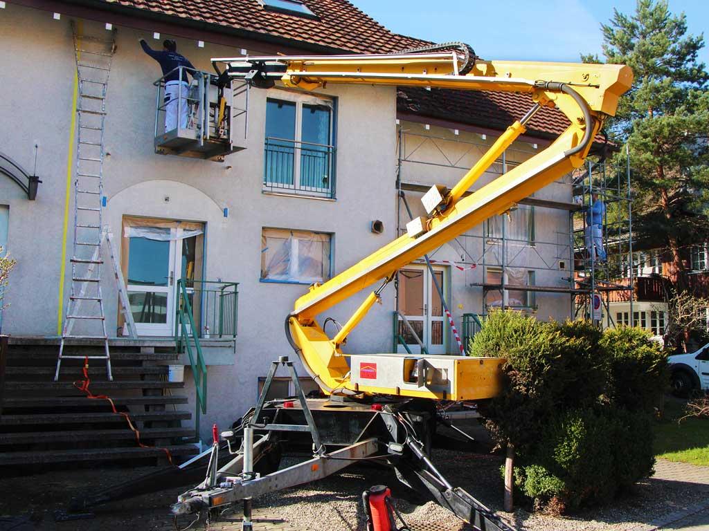 Malerarbeiten aussen Fassade malen Dübendorf