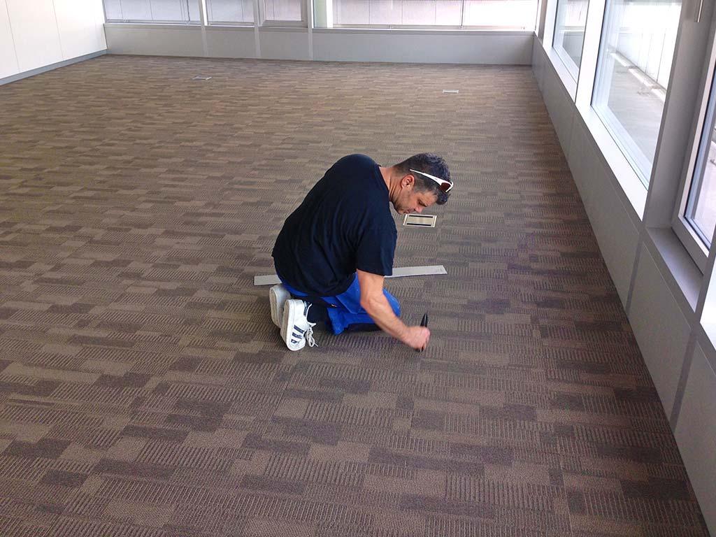 Teppichboden Bürogebäude Glattbrugg Chris Stettler