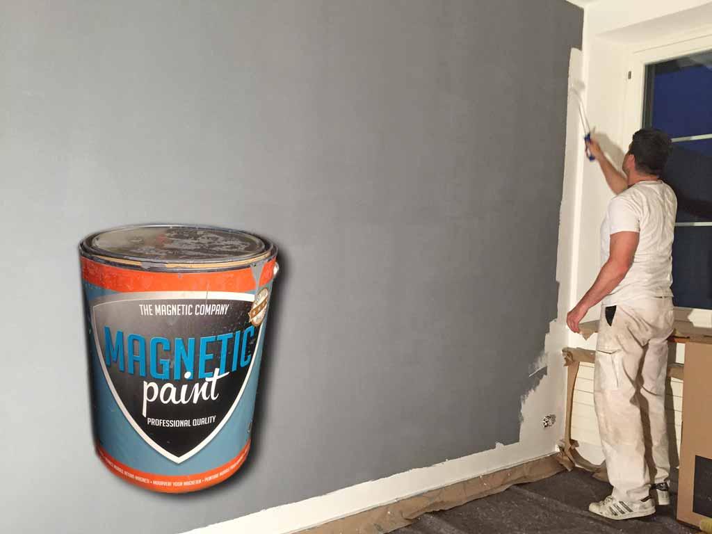 Magnetische Farbe Wand bemalen Bürogebäude Uster
