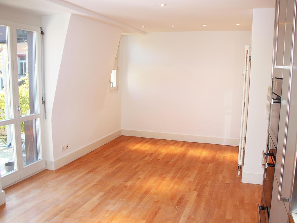 Parkett geschliffen versiegelt Wohnung Seefeld Zürich Chris Stettler Bodenleger