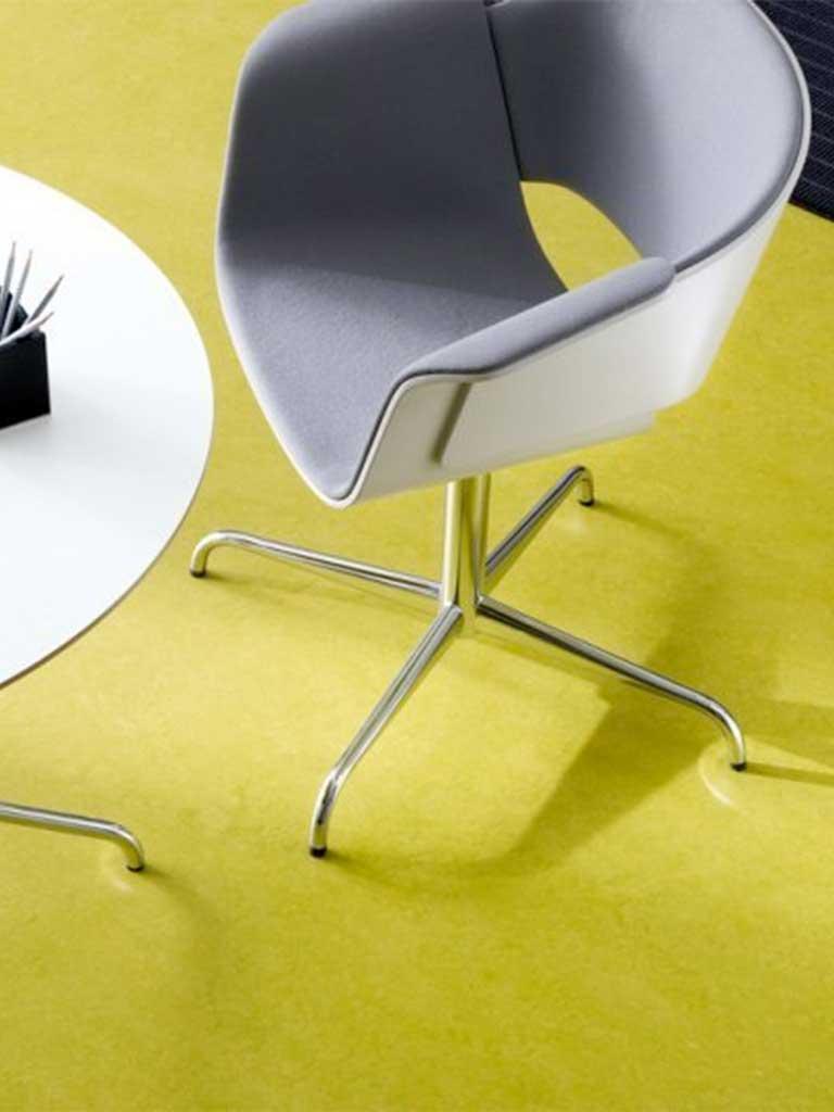Muster Linoleum PVA hellgrün Chris Stettler Bodenleger